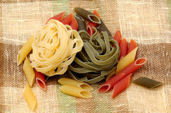 Pasta. Some pasta on the table Royalty Free Stock Photos