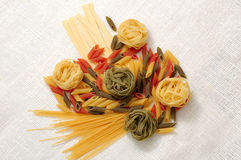 Pasta. Various pasta on the table Stock Photo