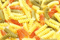 Pasta. Spiral pasta background or texture Stock Photography