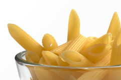 Pasta. Close up of Penne Rigate Pasta Uncooked royalty free stock photos