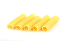 PASTA. Dry raw pasta lying on the table Stock Photos