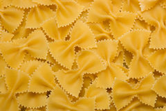 Pasta. Close up of the Farfalle Pasta Uncooked Royalty Free Stock Images