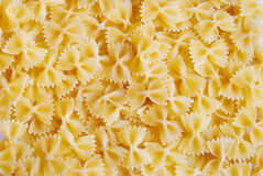 Pasta. Iatlian buterfly pasta ready for cooking stock photo