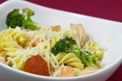 Pasta. With Shrimp and Vegetables Royalty Free Stock Photo