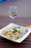 Pasta al-fresco Stock Photography