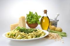 Pasta al pesto Stock Image