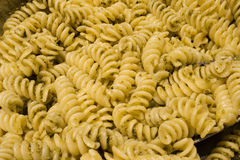 Pasta Al Pesto - Basil Sauce Royalty Free Stock Photo
