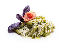 Pasta Al Pesto Stock Photos