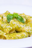 Pasta al pesto Royalty Free Stock Photo