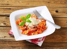 Pasta al pomodoro Royalty Free Stock Images