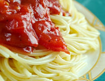 Pasta al pomodoro Stock Photography
