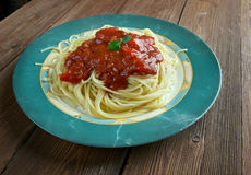 Pasta al pomodoro Royalty Free Stock Photography