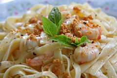 Pasta ala oglio Stock Photography