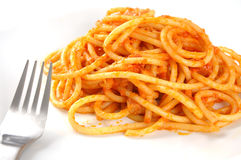 Pasta all' Amatriciana Royalty Free Stock Photography