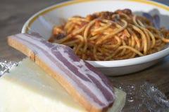 Pasta all'amatriciana Stock Photos