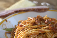 Pasta all'amatriciana Stock Photo