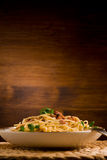 Pasta alla carbonara Royalty Free Stock Photo