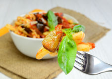 Pasta alla Norma Royalty Free Stock Photography