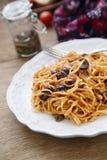 Pasta alla puttanesca Stock Photo