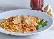 Pasta alla Toscana. Typical Tuscan-style al dente pasta royalty free stock photos