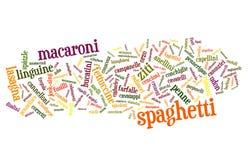Pasta & tagliatelle Mixed Immagini Stock
