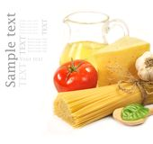 Pasta And Food Ingredients Stock Images