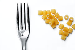 Pasta And Fork Royalty Free Stock Photography
