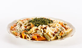 Pasta And Pesto Royalty Free Stock Photos