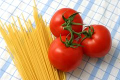 Pasta And Tomatoes Royalty Free Stock Photos
