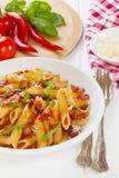 Pasta Arabbiata stock photo