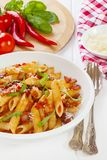 Pasta Arabbiata Vertical royalty free stock images