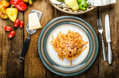 Pasta arrabiata Stock Photography