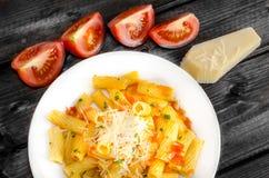 Pasta arrabiata Stock Image