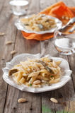 Pasta with artichoke Stock Photography