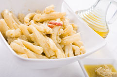 Pasta with artichoke pesto. Royalty Free Stock Image