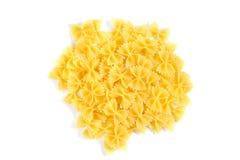Pasta asciutta dei nastri isolata su fondo bianco Fotografia Stock