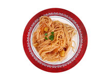 Pasta asciutta Royalty Free Stock Photo