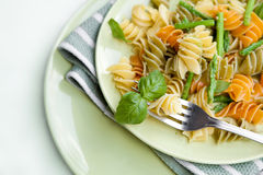 Pasta with asparagus and rocket pesto Stock Photography