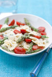 Pasta with asparagus and tomatoes Royalty Free Stock Images