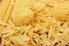 Pasta assortment Royalty Free Stock Photography