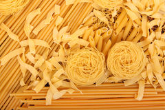 Pasta assortment Royalty Free Stock Photos
