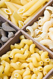 Pasta assortment of different colors background Royalty Free Stock Image