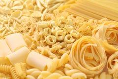Pasta assortment. Italian food image Royalty Free Stock Photography