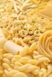 Pasta assortment. Italian food image Royalty Free Stock Photo