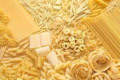 Pasta assortment. Italian food image Stock Image