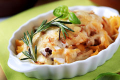 Pasta au gratin Royalty Free Stock Photo