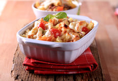 Pasta au gratin Stock Photography
