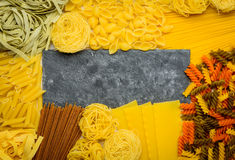 Pasta Background and Copy Space Area Stock Photo