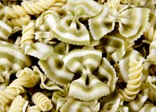 Pasta Background. Several noodles on a plate make a Pasta Background stock image