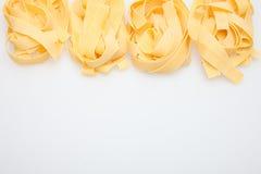 Pasta background. Pasta on white background. Food Stock Images